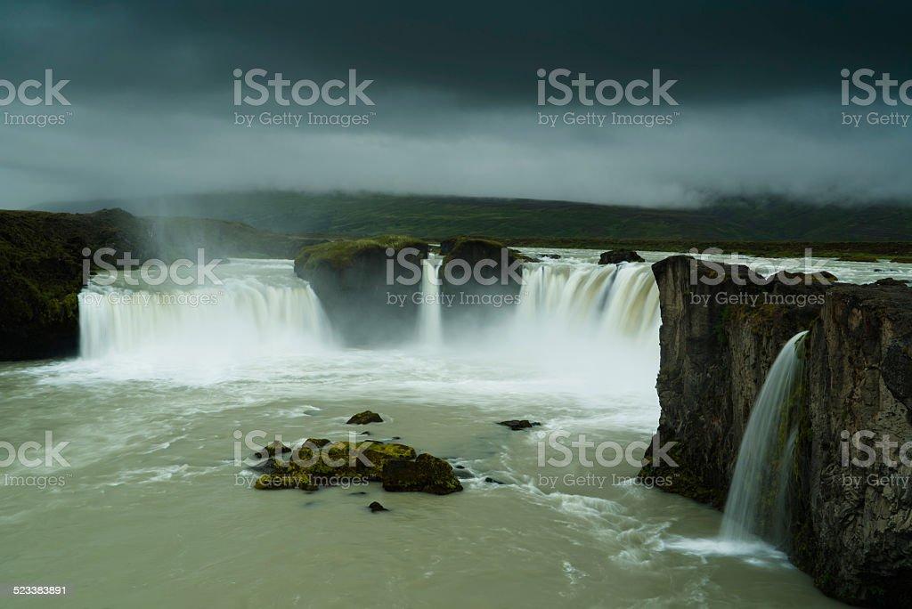 Godafoss Falls Northeast Iceland stock photo