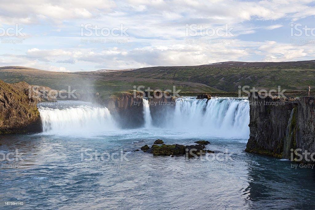Godafoss Waterfall, Iceland royalty-free stock photo