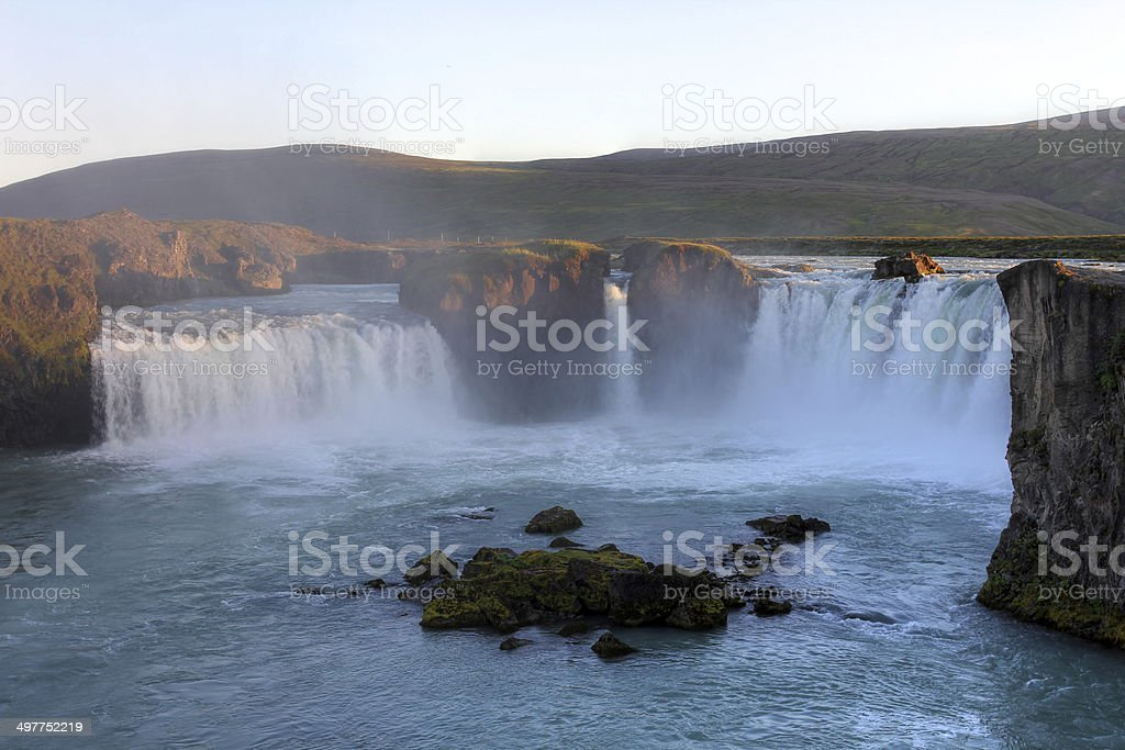 Godafoss Waterfall, Iceland stock photo