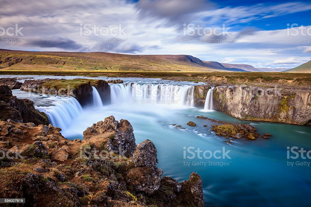 Godafoss waterfall stock photo