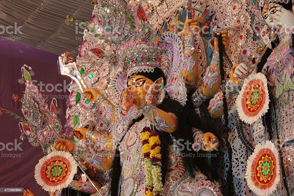 goddess durga statue stock photo