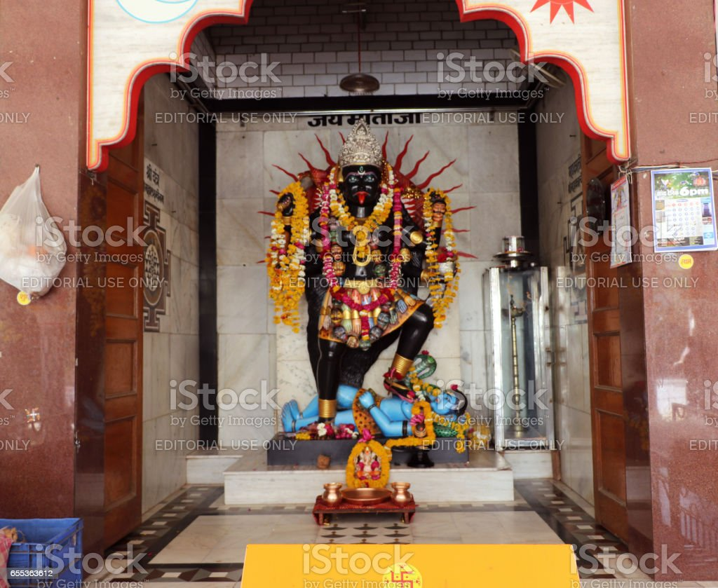 Goddess Kali Temple,  Khajrana, Indore stock photo