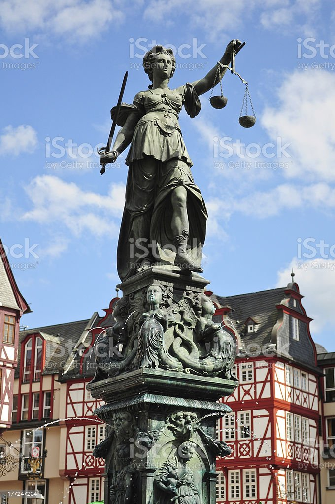 Goddess of Justice stock photo