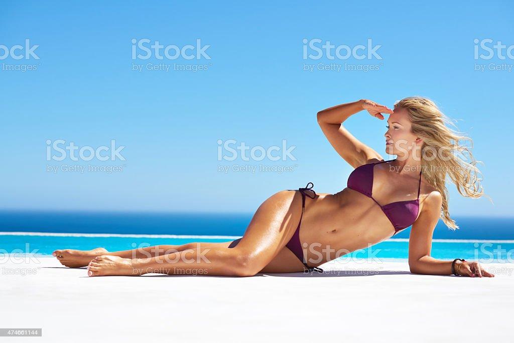 Goddess of summer stock photo