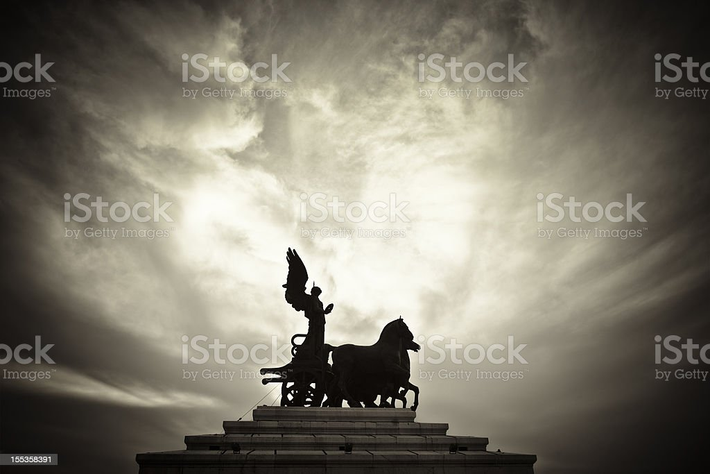 Goddess on a Chariot stock photo