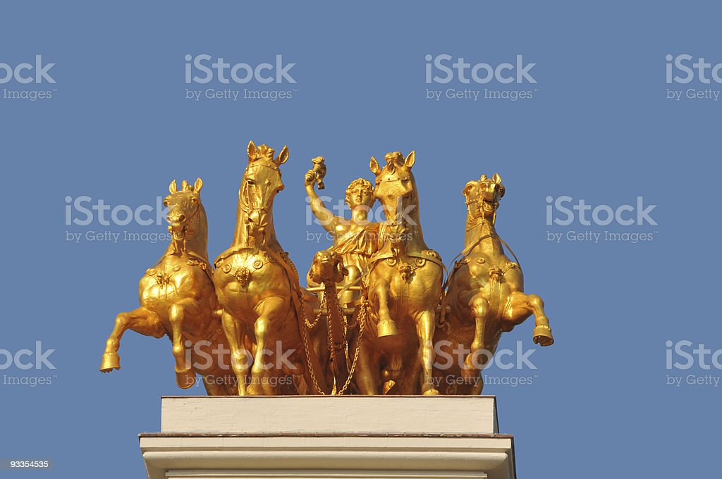 Goddess on a chariot royalty-free stock photo