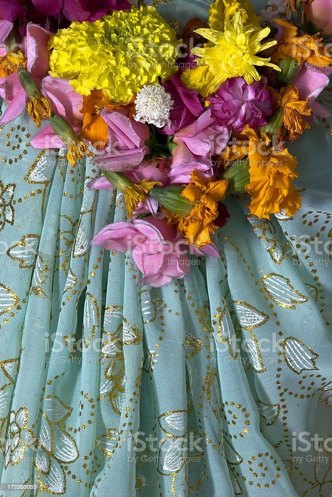 Goddess' saree stock photo