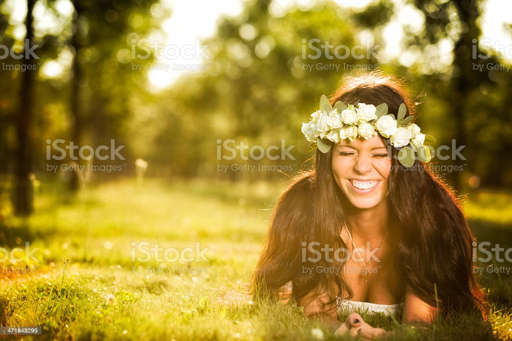 Godess laughing royalty-free stock photo
