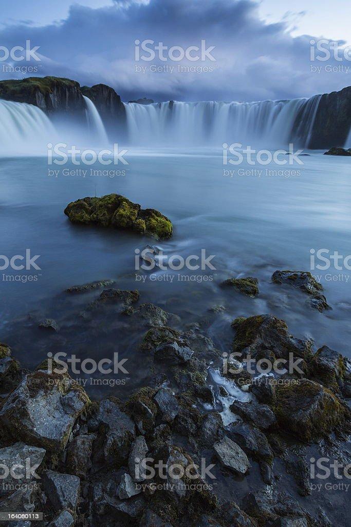 godfoss waterfall royalty-free stock photo