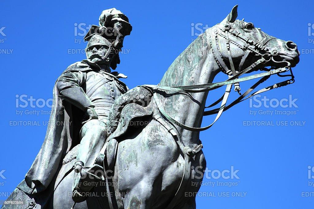 Godfrey Morgan Equestrian Statue, Cardiff stock photo