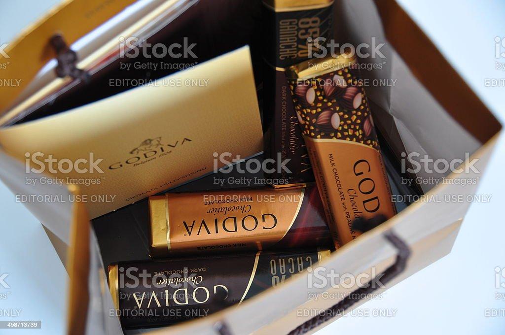 Godiva Chocolate Bars stock photo