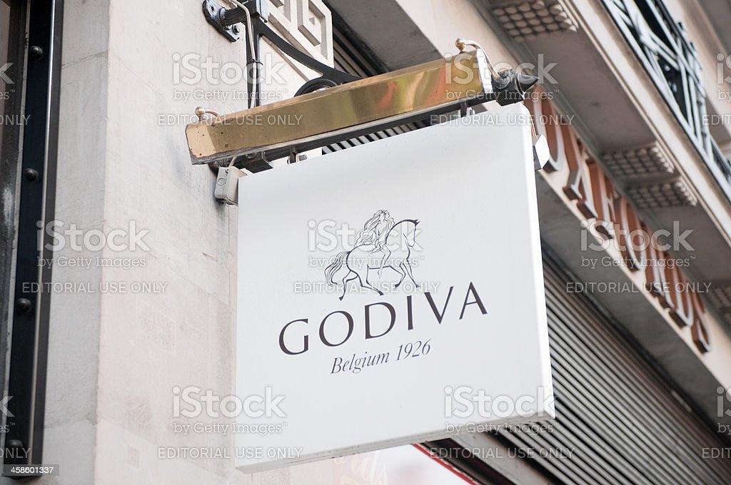 Godiva Chocolatier store at Regent Street, London stock photo