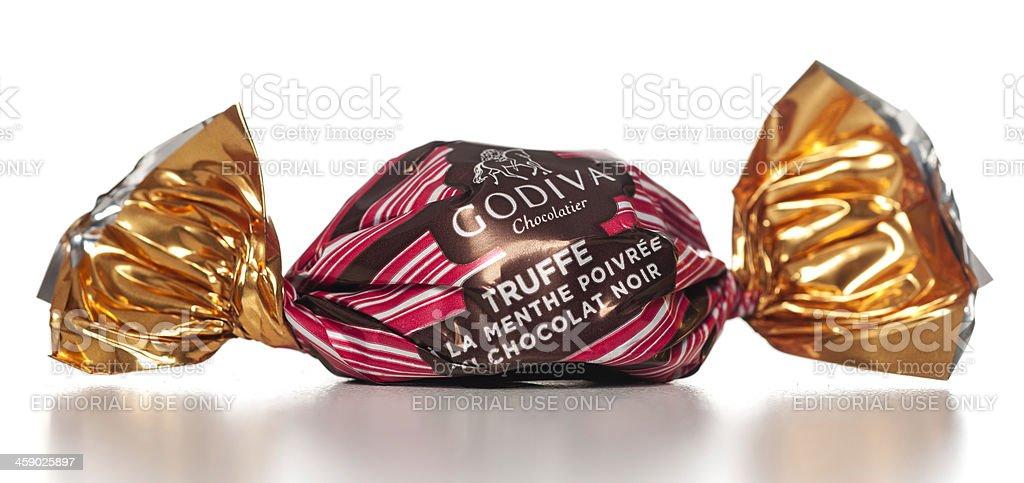 Godiva truffe wrapped stock photo