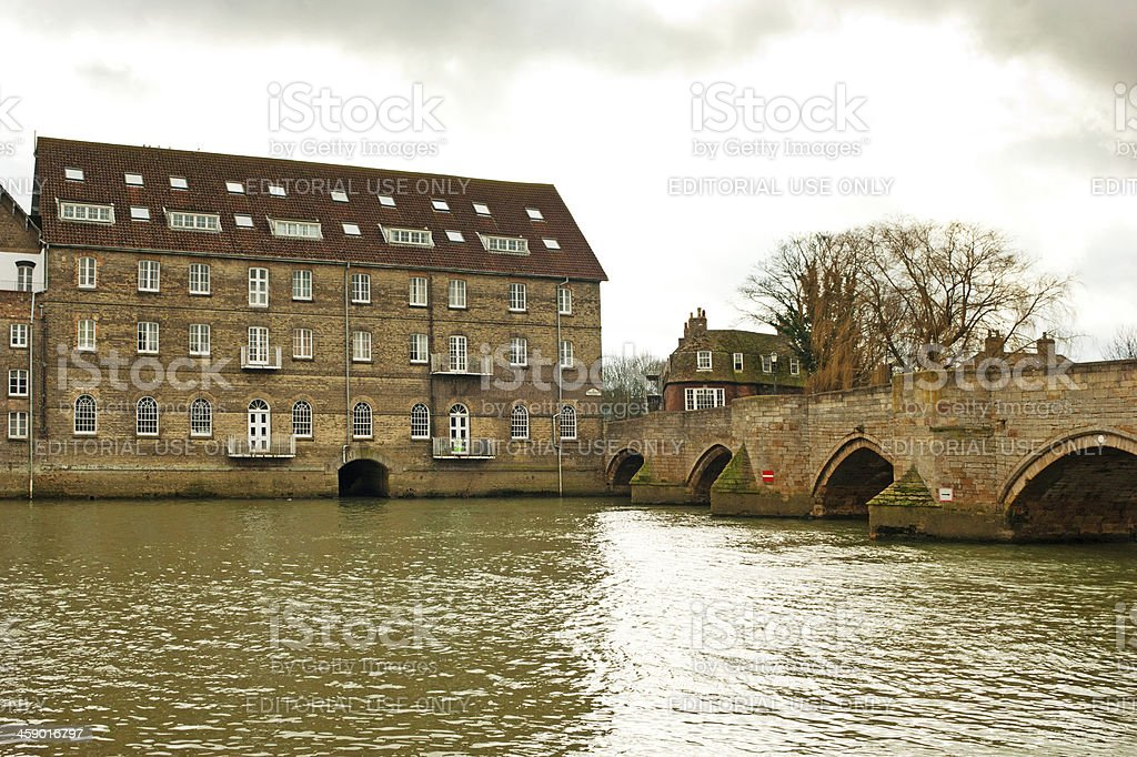 Godmanchester Bridge Huntingdon Cambrideshire royalty-free stock photo