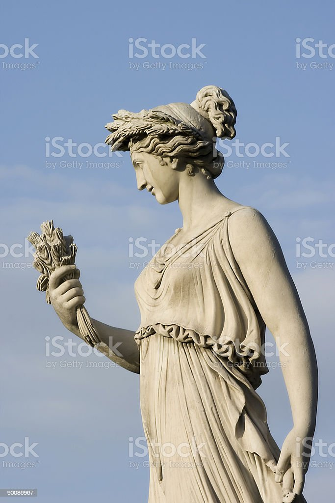 godness of abundance (old roman statue) royalty-free stock photo