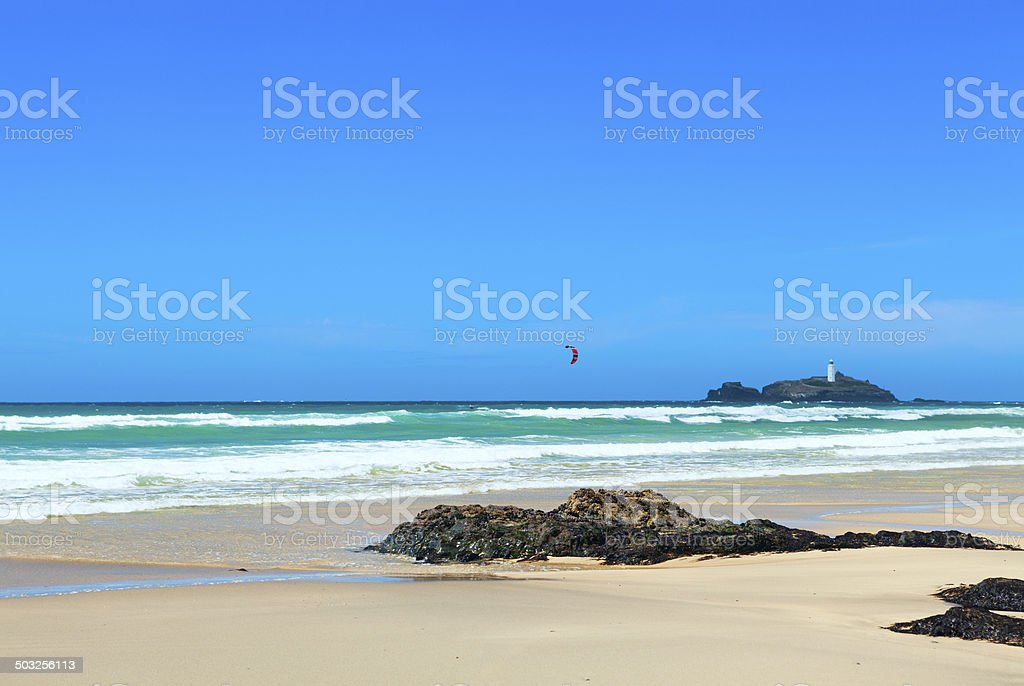 Godrevy and Gwithian stock photo