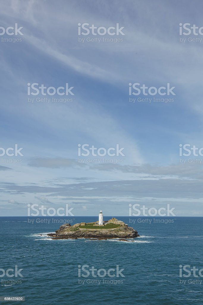 Godrevy Lighthouse - Cornwall stock photo
