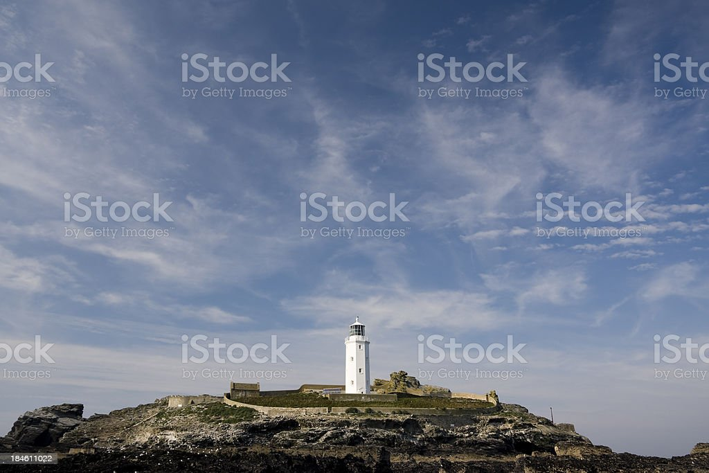Godrevy lighthouse on the north coast of Cornwall royalty-free stock photo