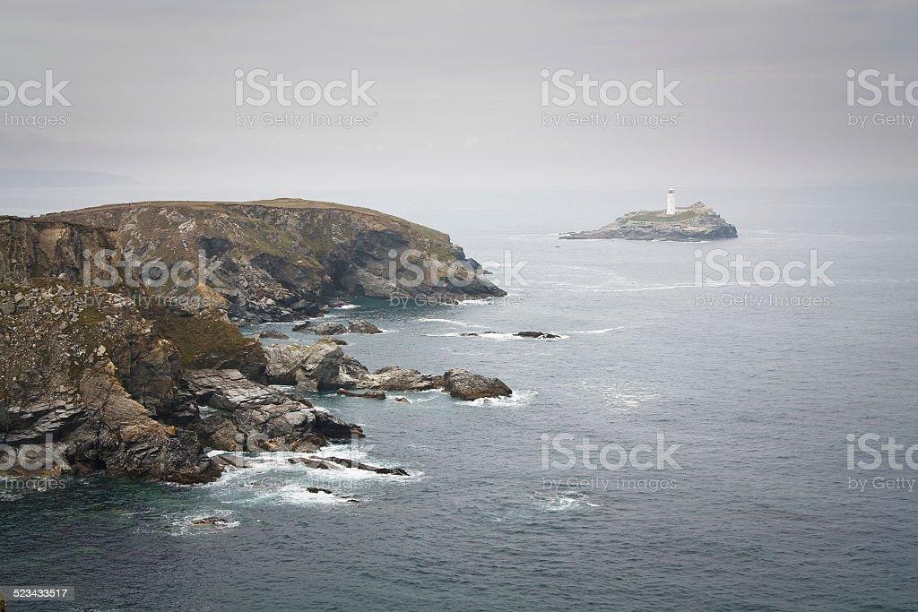 Godrevy lighthouse, UK. stock photo