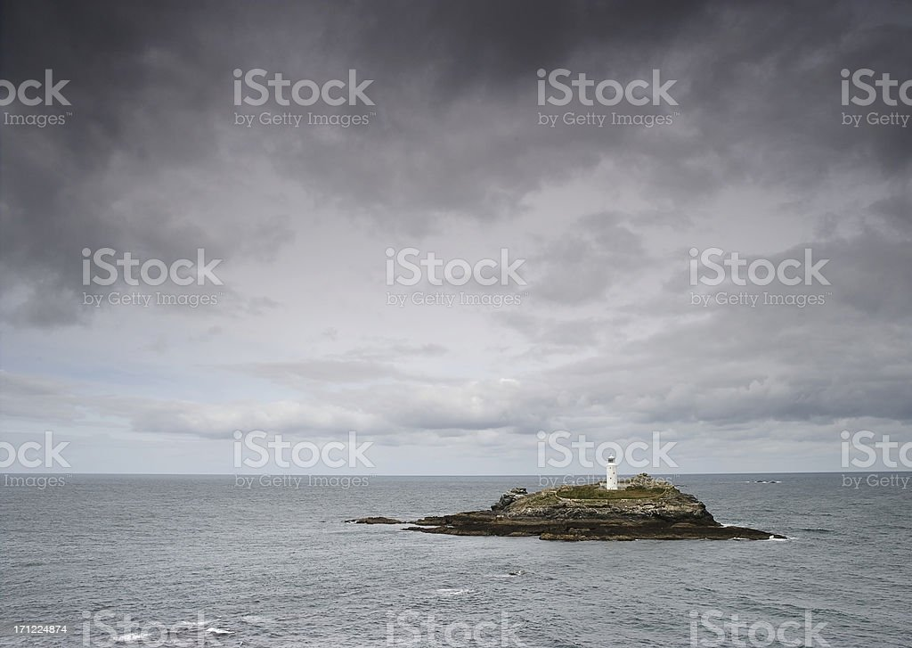 Godrevy Point Lighthouse royalty-free stock photo