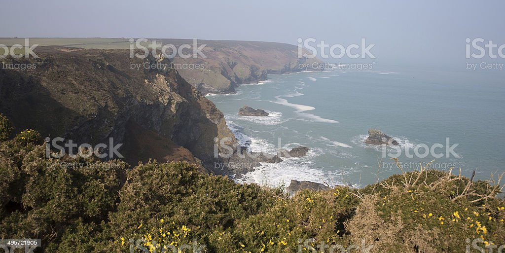 Godrevy Portreath Heritage Coast Cornwall England UK royalty-free stock photo