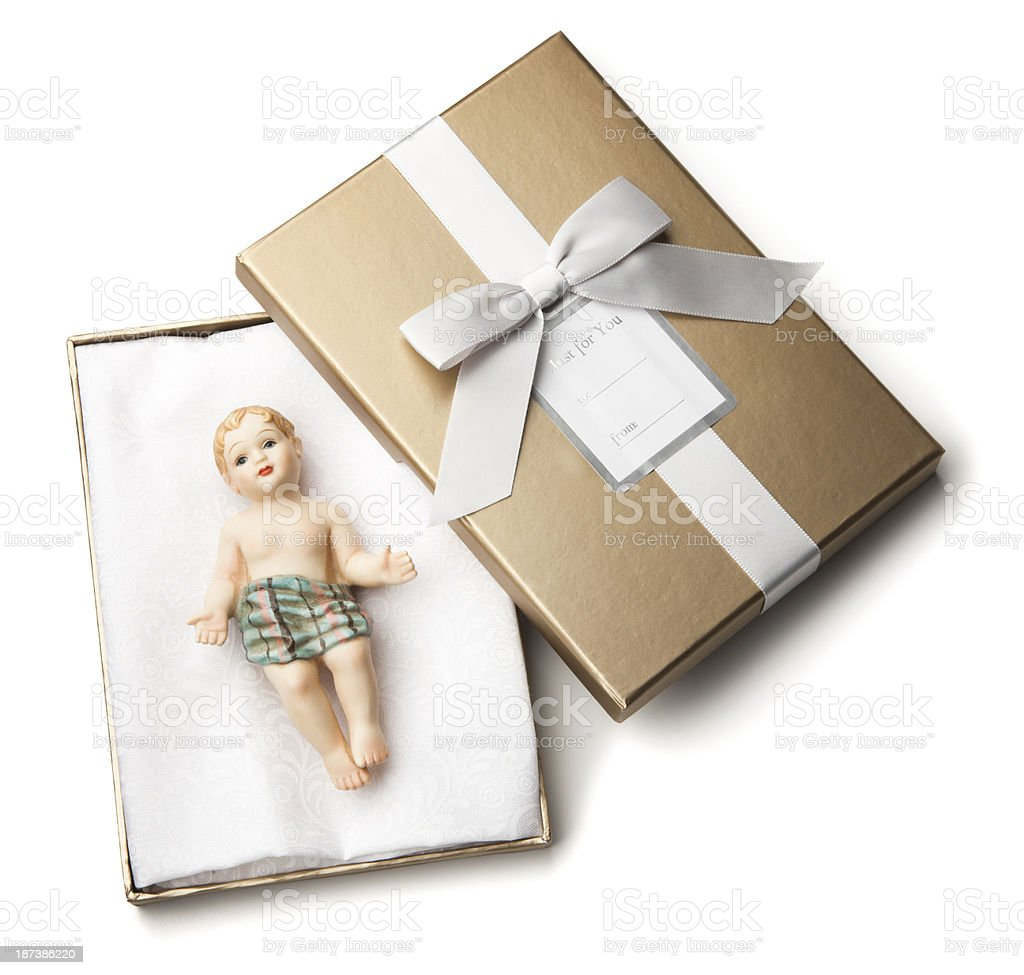 God's Christmas Gift - Baby Jesus stock photo
