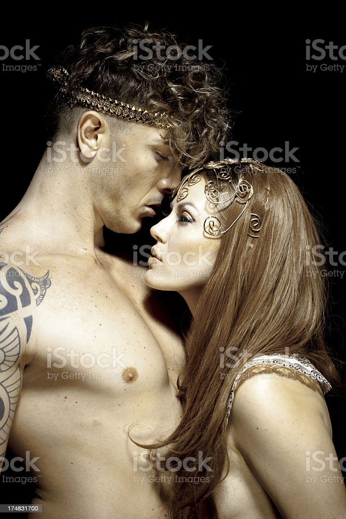 Gods couple royalty-free stock photo