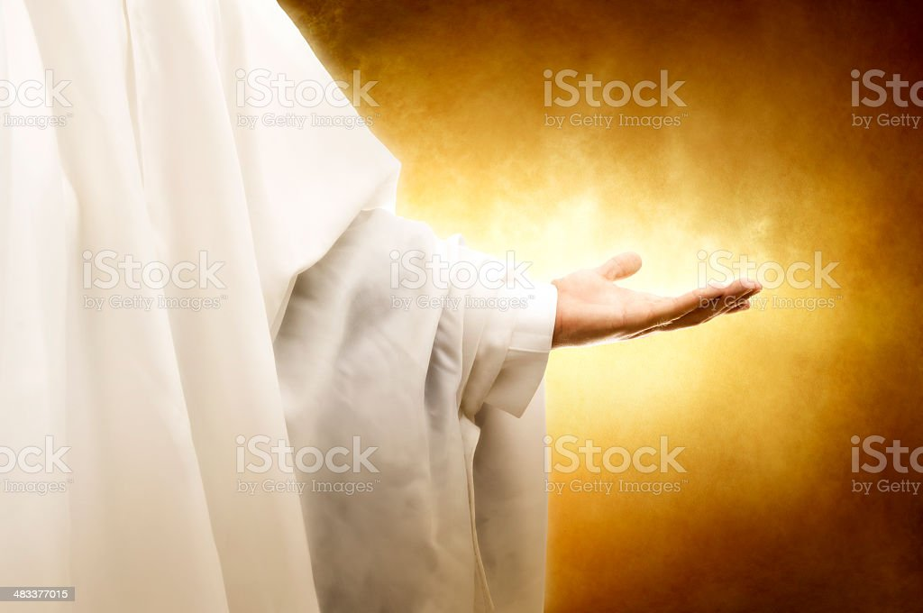 God's hand royalty-free stock photo