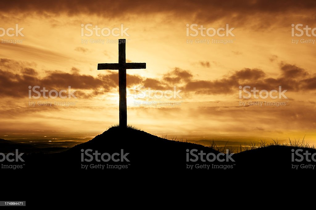 God's Love Revealed Through Christ's Death on the Cross royalty-free stock photo