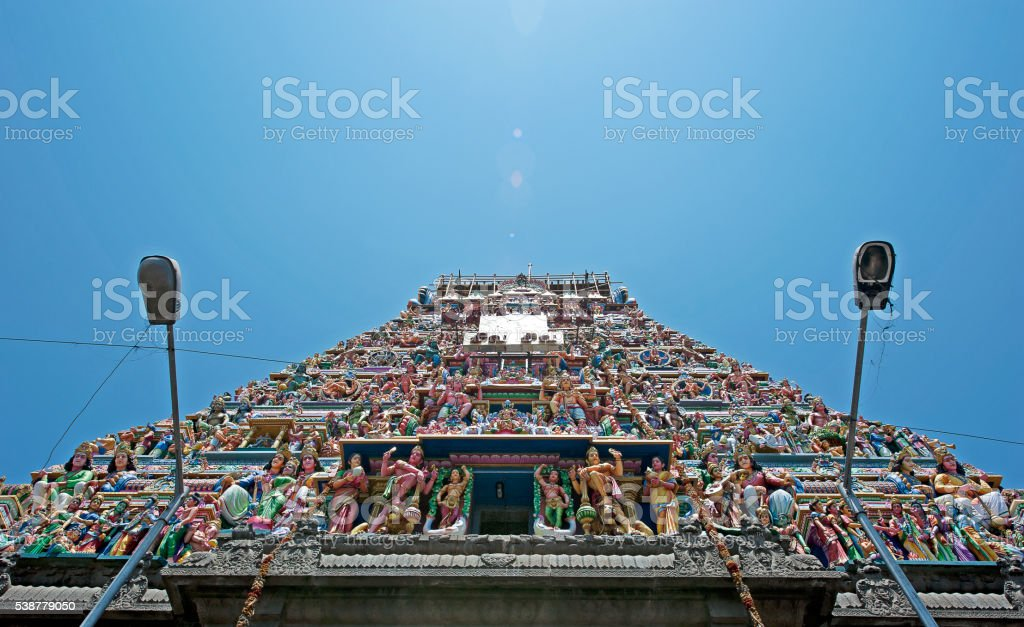 Gods on high in Chennai, India stock photo