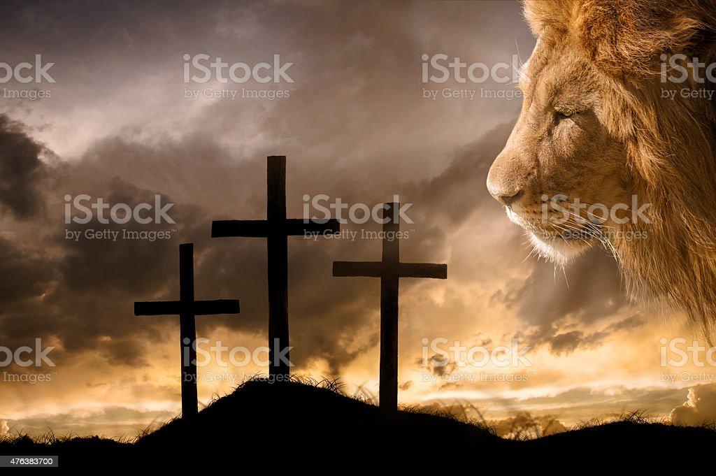 God's Victory at Calvary stock photo