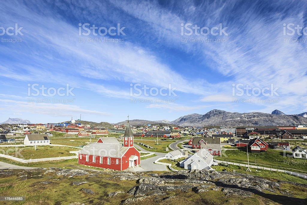 Godthab Nuuk Capital City of Greenland in Summer stock photo