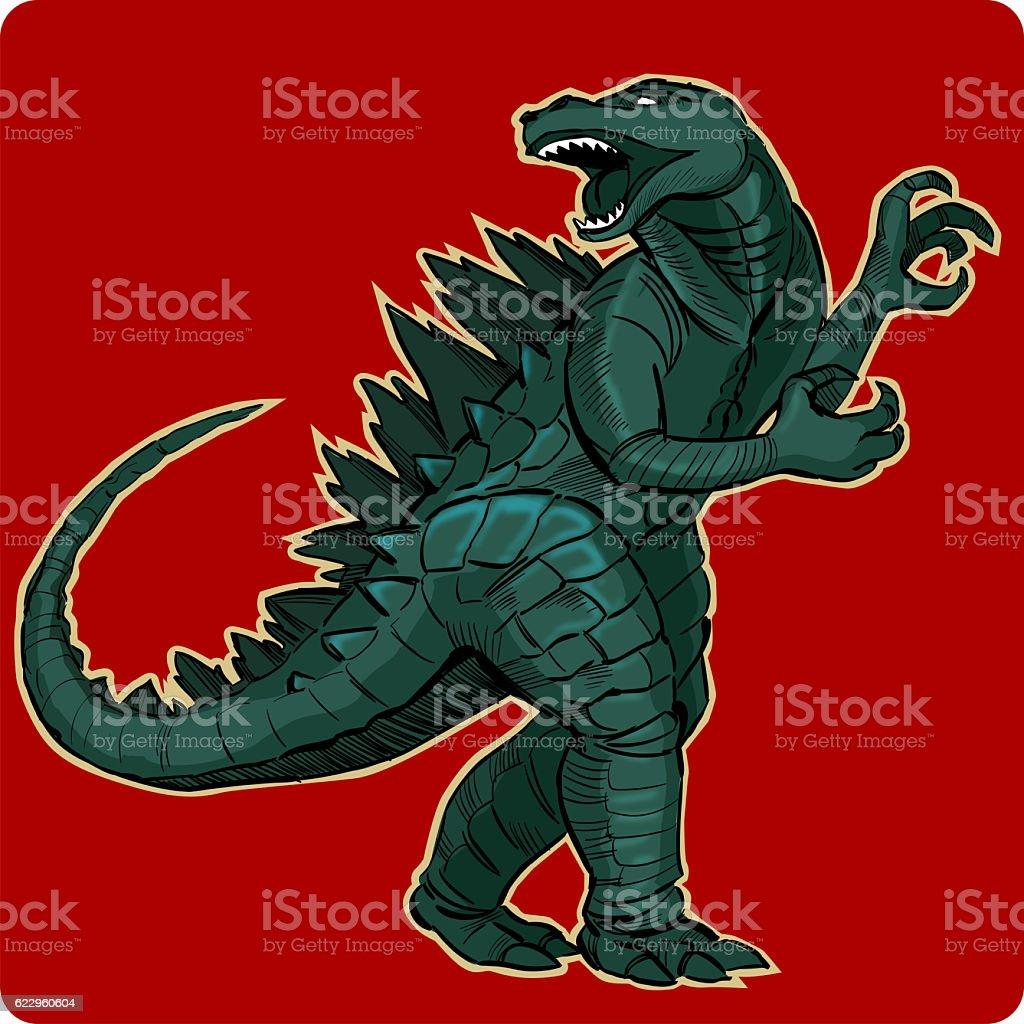 Godzilla monster stock photo