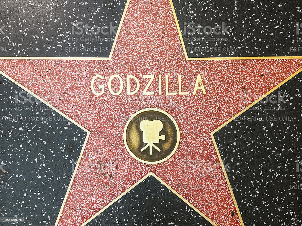 Godzillas star on Hollywood Walk of Fame royalty-free stock photo