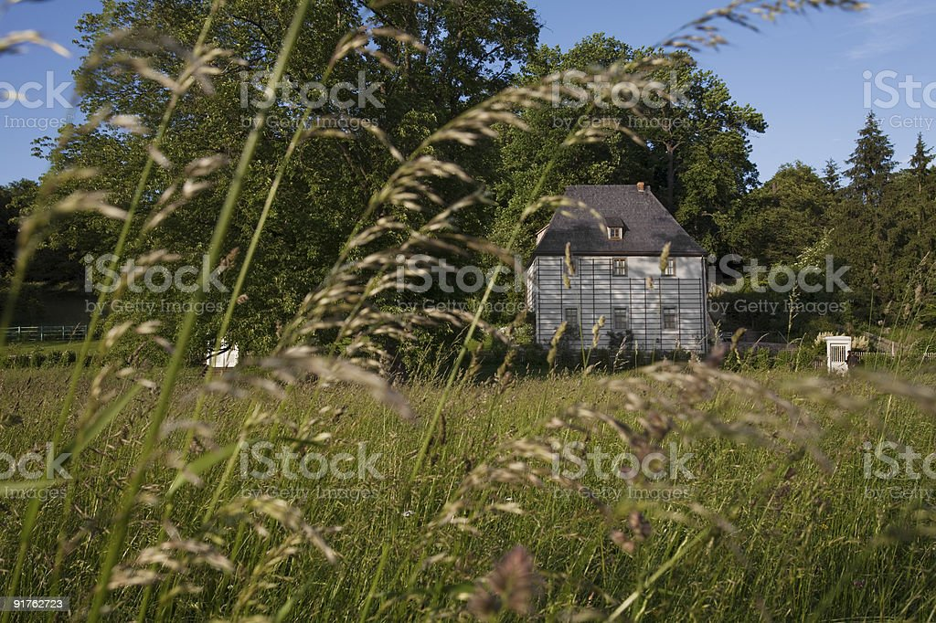 Goehtes Sommerhouse or Gartenhaus stock photo