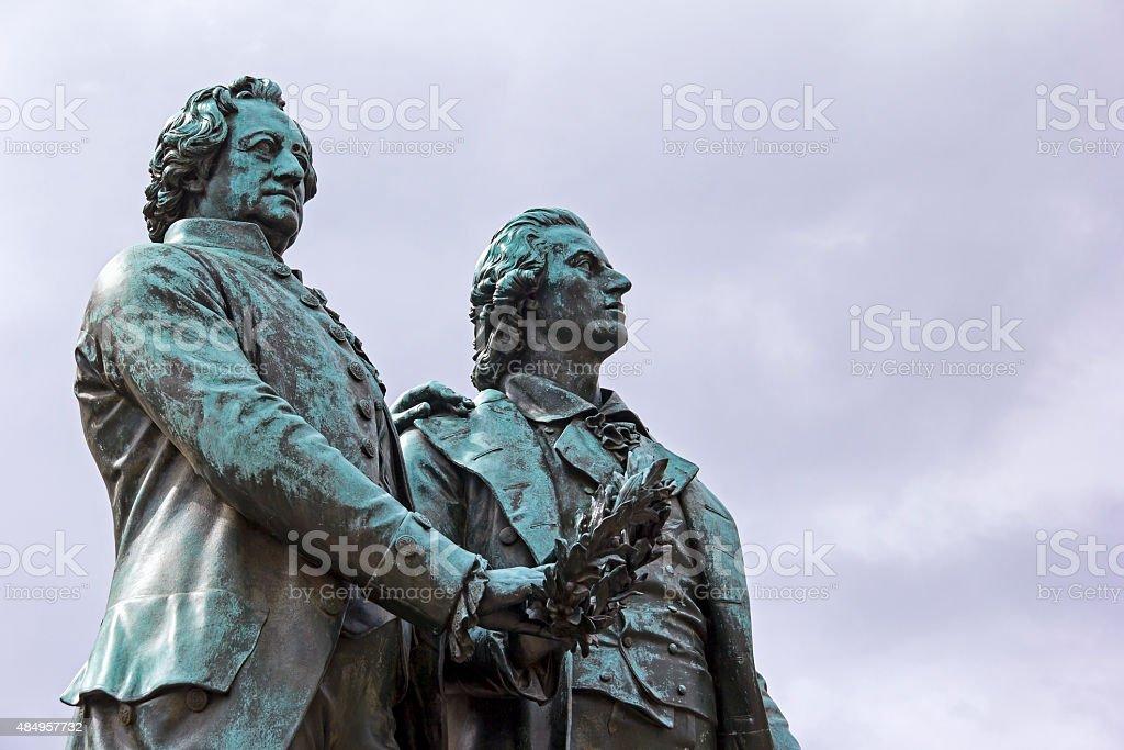 Goethe and Schiller Memorial in Weimar stock photo