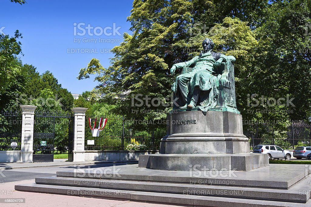 Goethe Monument in Vienna. stock photo