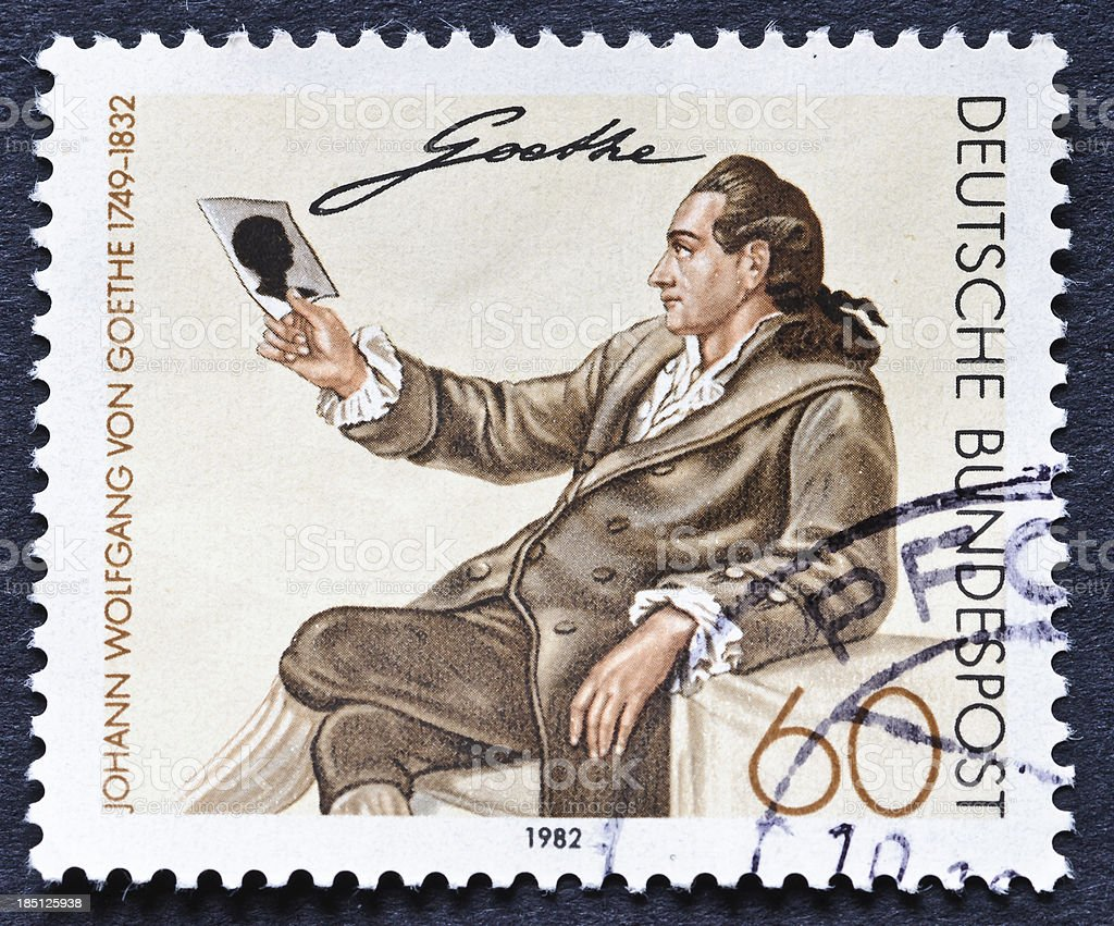 Goethe Portrait Stamp stock photo