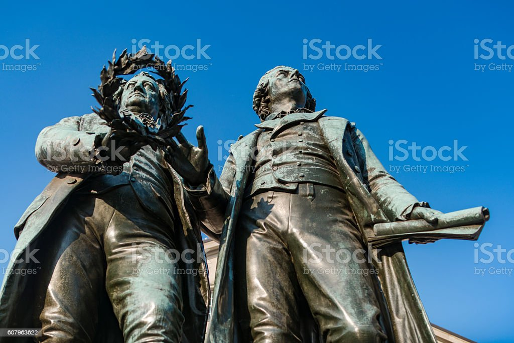 Goethe Schiller Denkmal stock photo