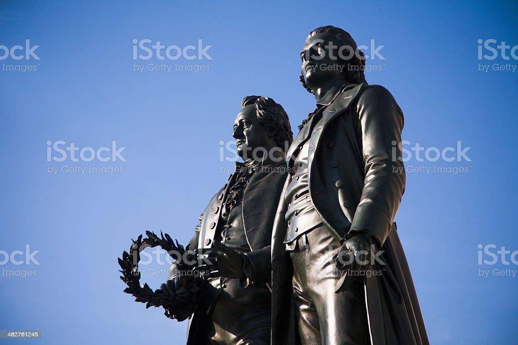 Goethe & Schiller royalty-free stock photo