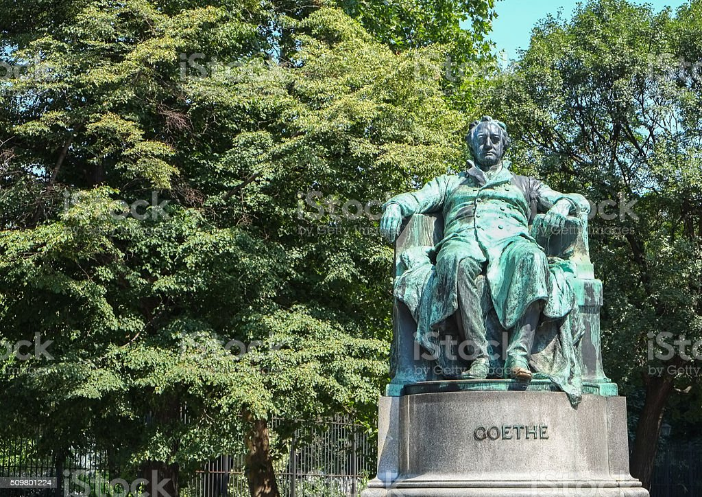 Goethe statue in Vienna, Austria stock photo