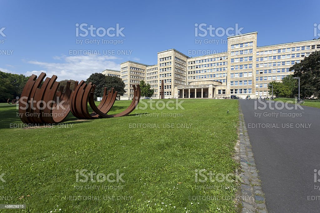 Goethe University Frankfurt stock photo