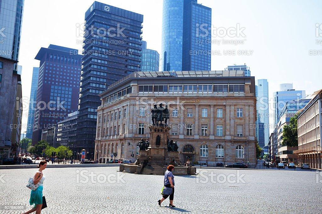 Goetheplatz and office buildings stock photo