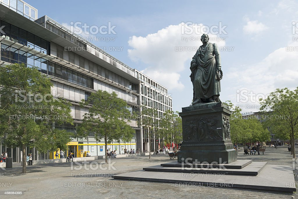Goetheplatz, Goethe memorial, Frankfurt, Germany stock photo