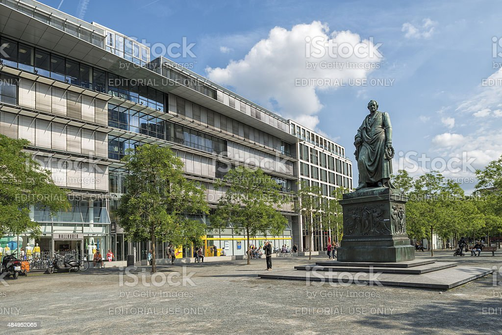 Goetheplatz, Goethe memorial, Frankfurt, Germany stock photo