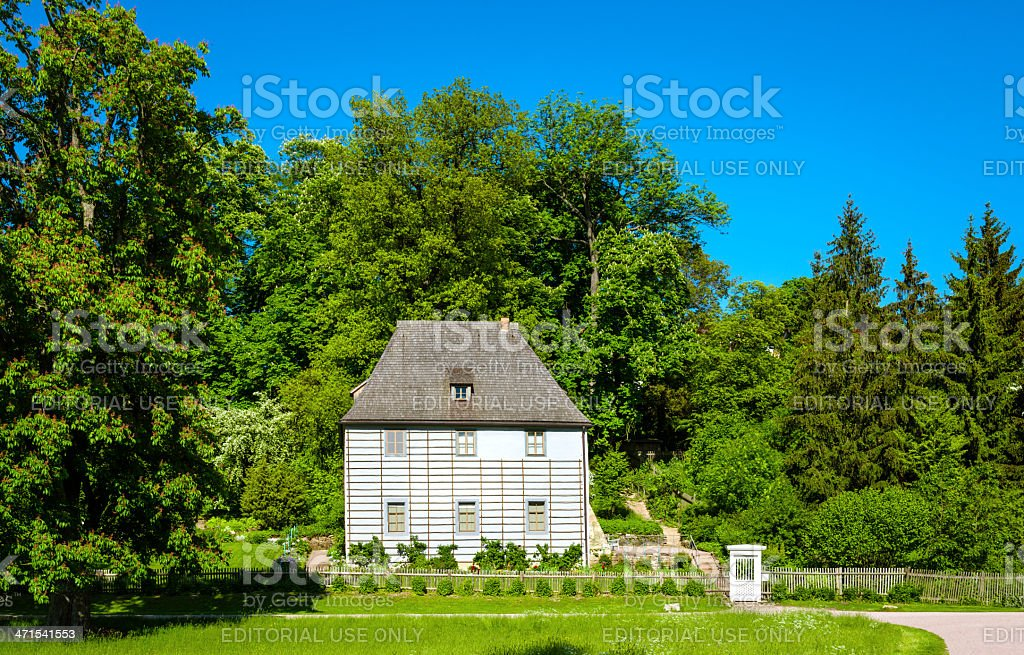 Goethe's garden house in Weimar, Germany stock photo