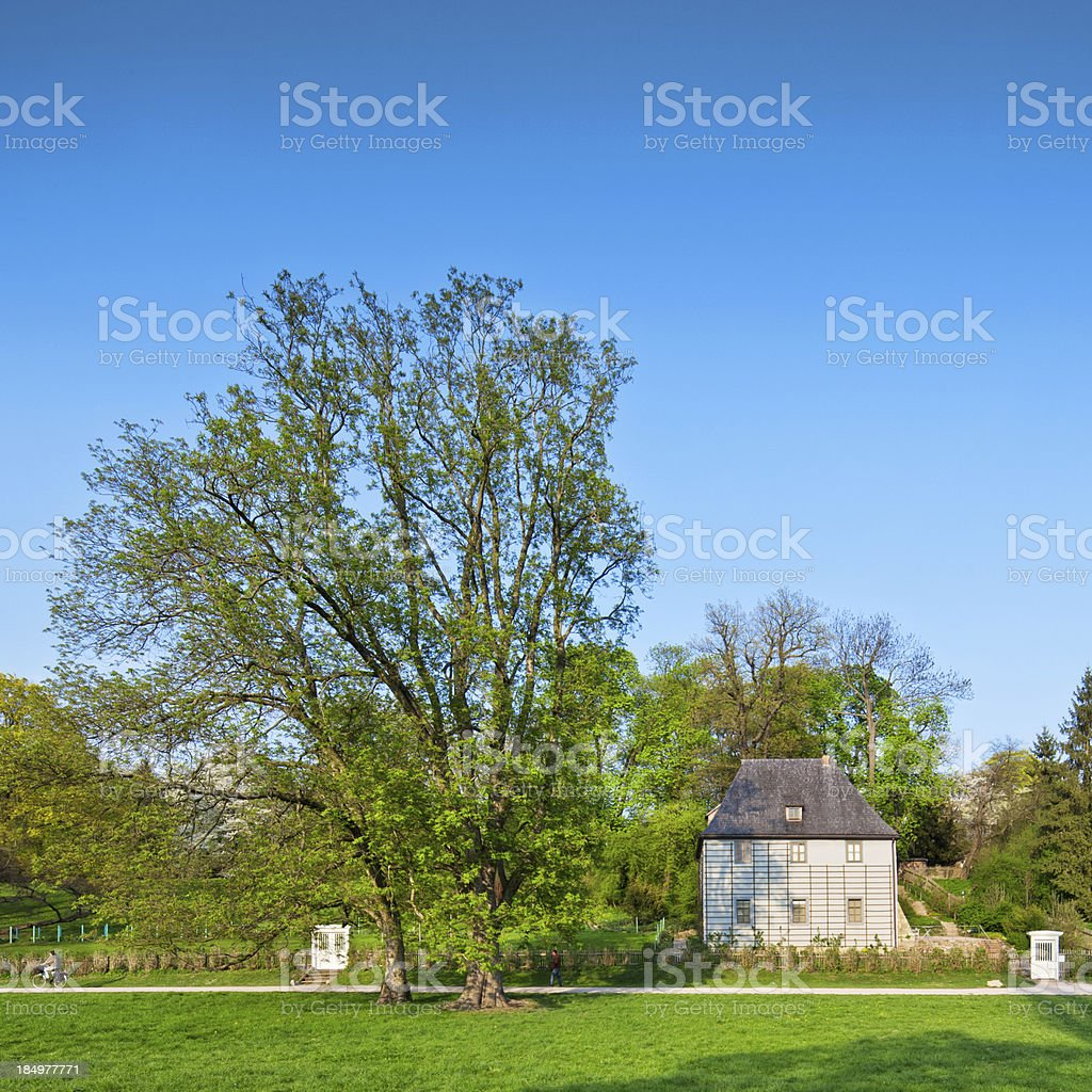 Goethe's garden house in Weimar stock photo