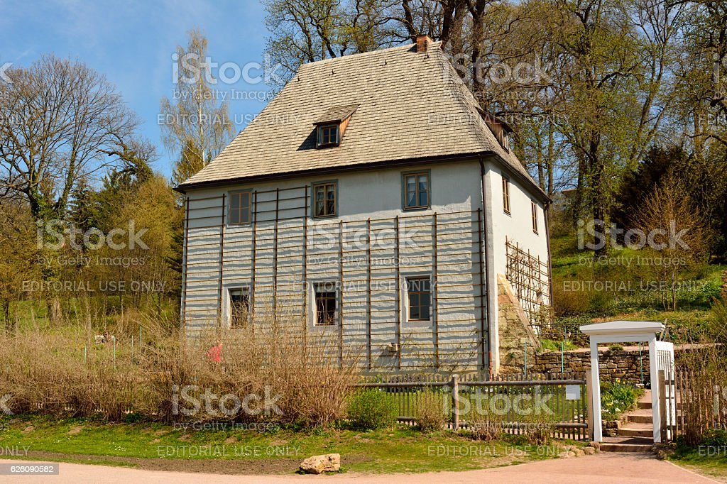 Goethes Gartenhaus in Weimar stock photo
