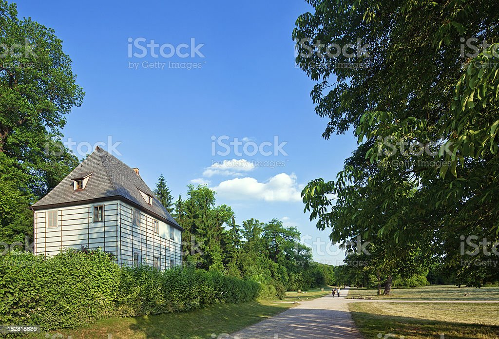 Goethe's garden house stock photo