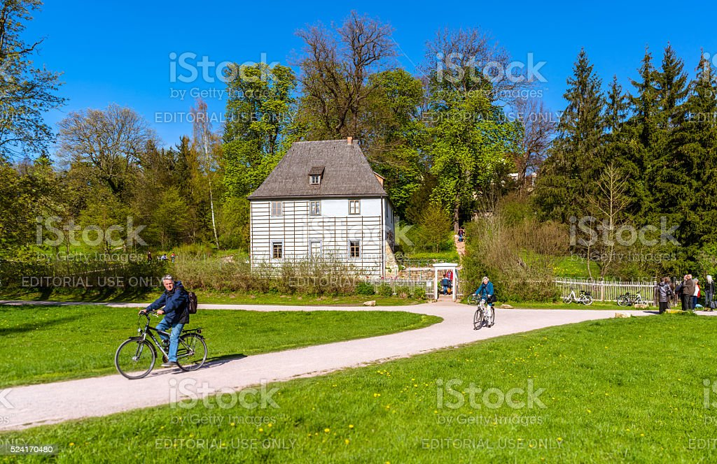 Goethe´s summer cottage in Weimar, Germany stock photo